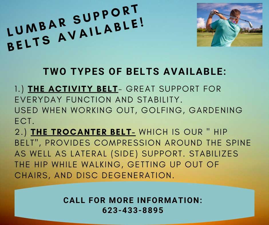 Chiropractic Surprise AZ Lumbar Support Belt